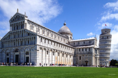 Pisa Cathedral and Leaning Tower Photograph by Nat Coalson