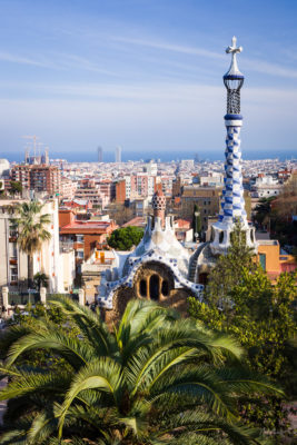 Travel Photograph: Barcelona View from Park Guell by Nat Coalson