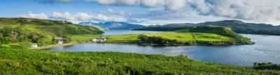Fine Art Travel Photograph: Bracadale Peninsula Panoramic by Nat Coalson