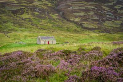 Fine Art Travel Photograph: Cairngorms Cabin by Nat Coalson
