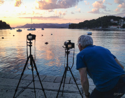 Photographing Sunset at Cavtat Harbour