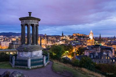Travel Photograph: Dugald Stewart Monument and Edinburgh by Nat Coalson