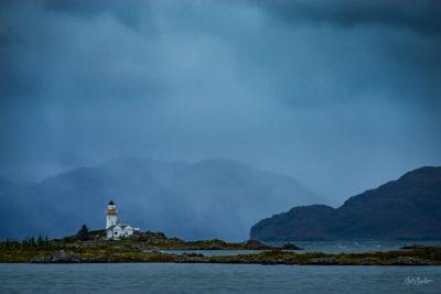 Fine Art Travel Photograph: Isleornsay Lighthouse by Nat Coalson