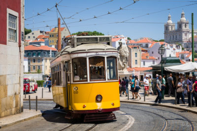Travel Photograph: Lisbon Streetcar by Nat Coalson